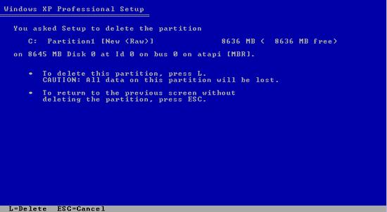 Delete Partisi hard disk