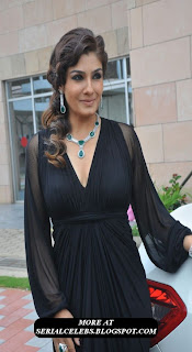 Raveena Tandon in transparent dress