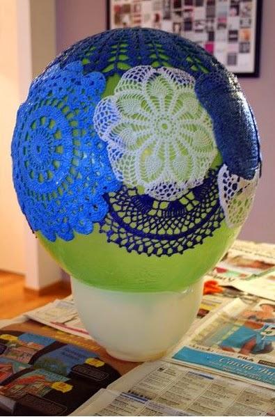 DIY: Lámpara a Crochet Paso 2