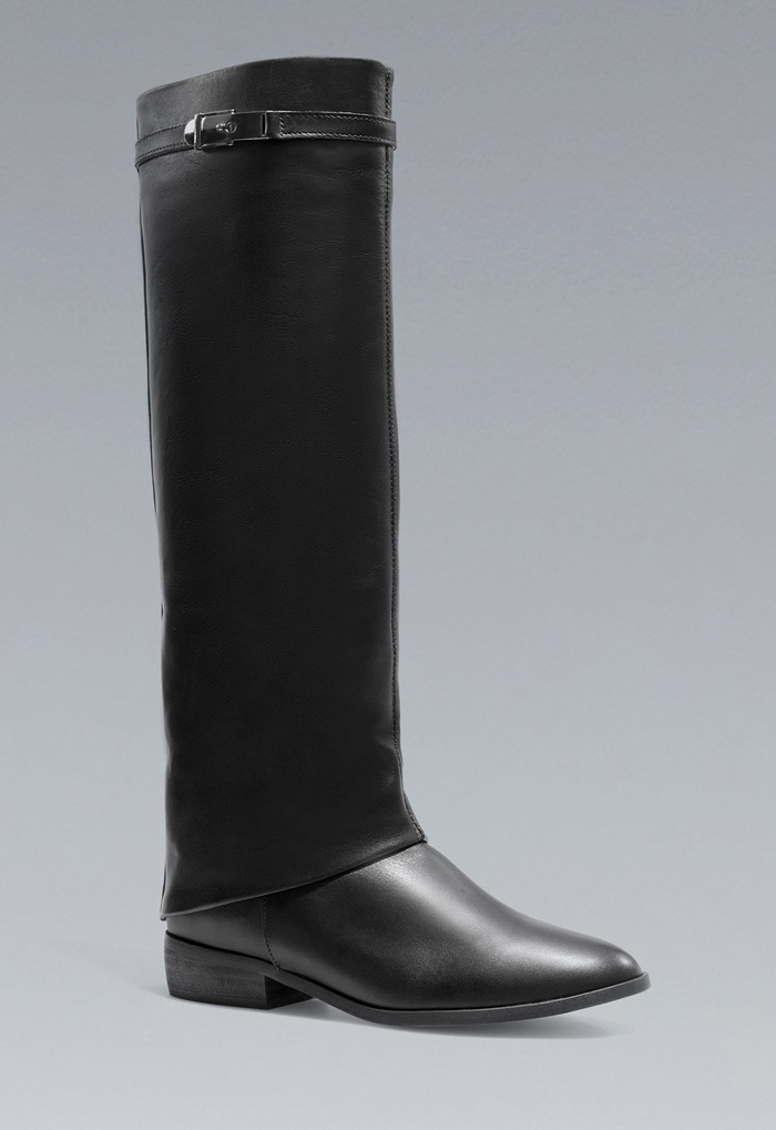 botas zara negras