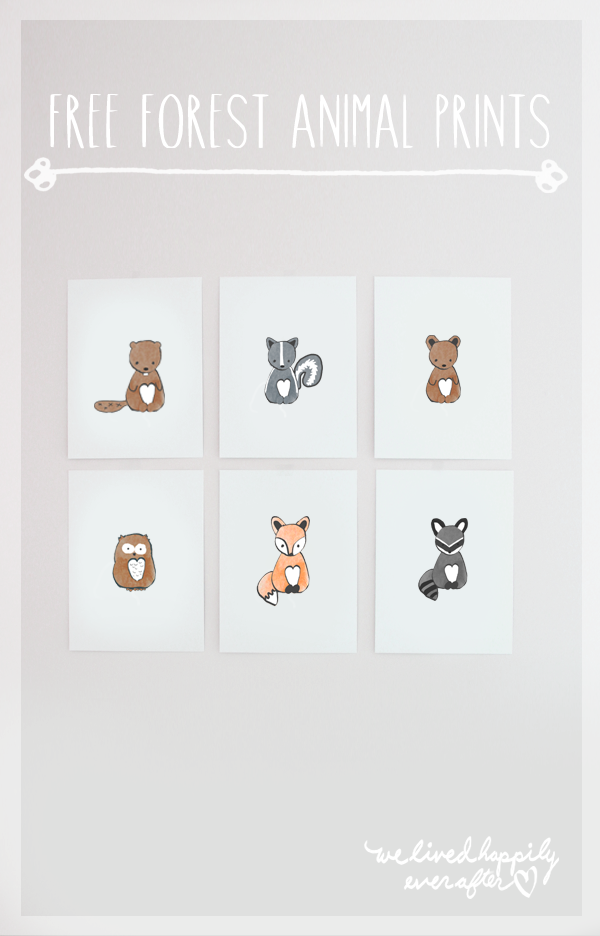 Wall Art Graphics Download : We lived happily ever after free forest animal clip art