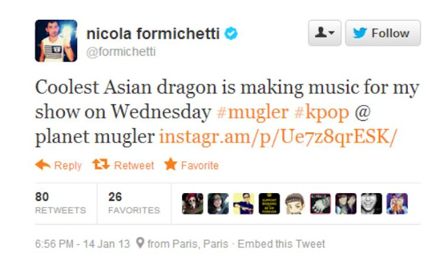 G-Dragon is making sweet, sweet music for Nicola Formichetti & Mugler