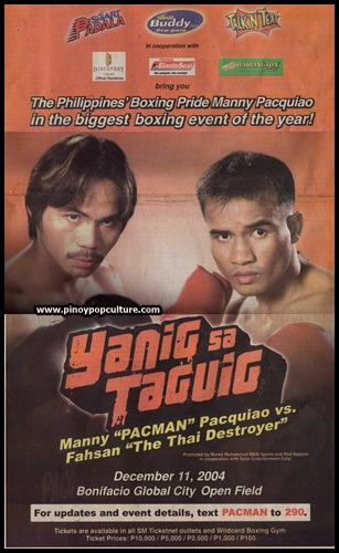 Manny Pacquiao, boxing matches,  Fahsan