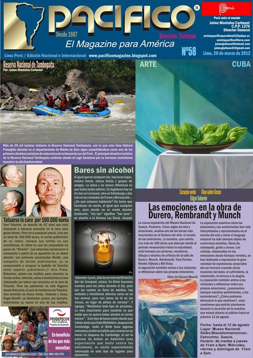 Revista Pacífico Nº 58 Turismo