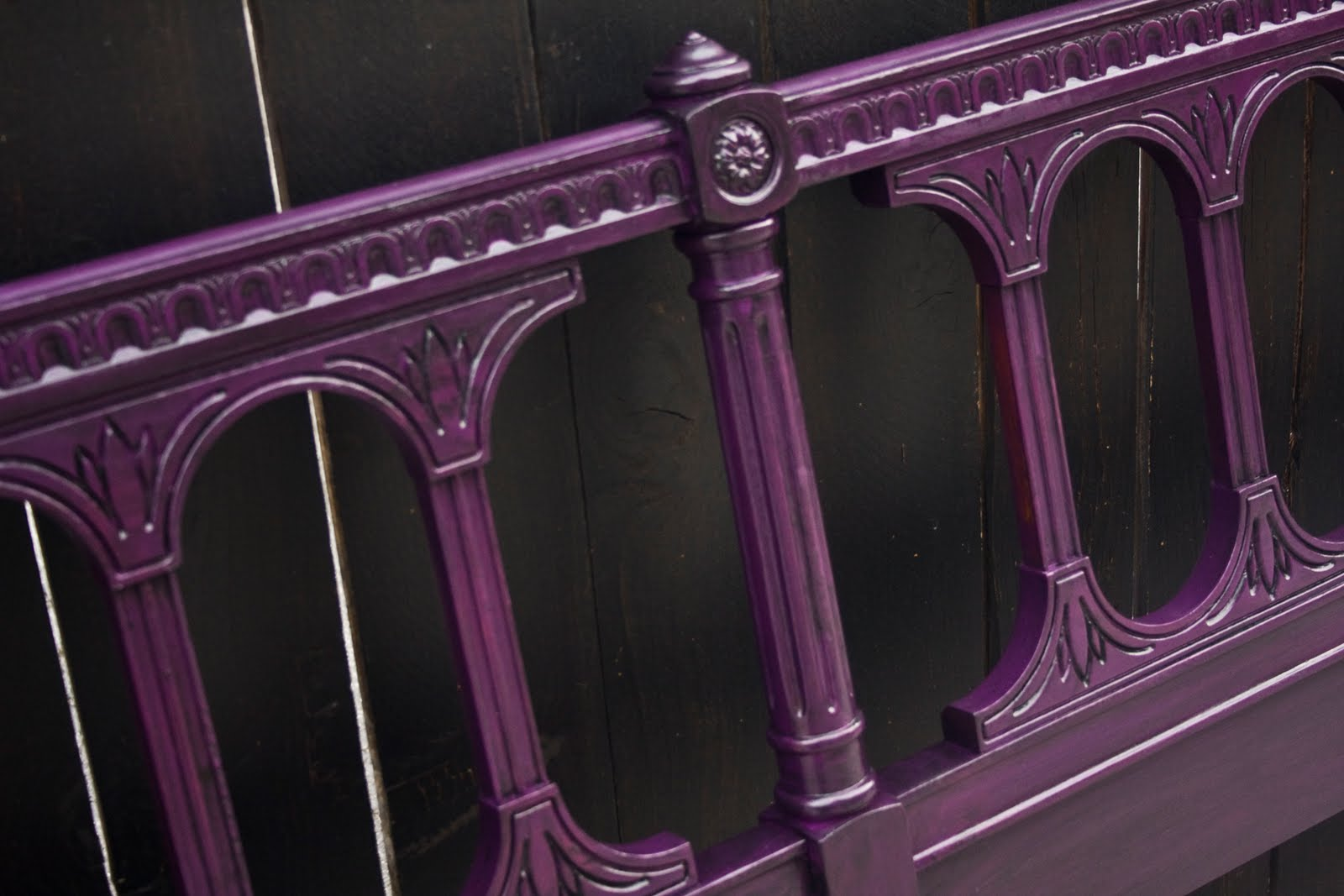 modernly shabby chic furniture deep purple and black