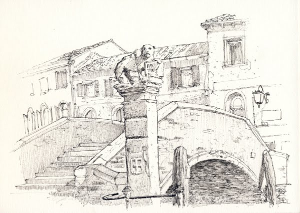 Urban sketchers italy venezia in bianco e nero for Disegni bianco e nero paesaggi