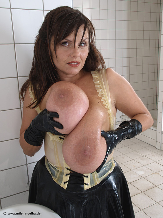Latex maid anal