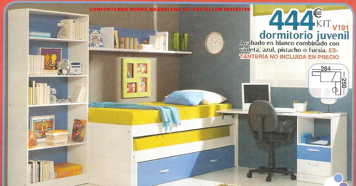 Muebles oferta kit dormitorios juveniles for Muebles baratos castellon