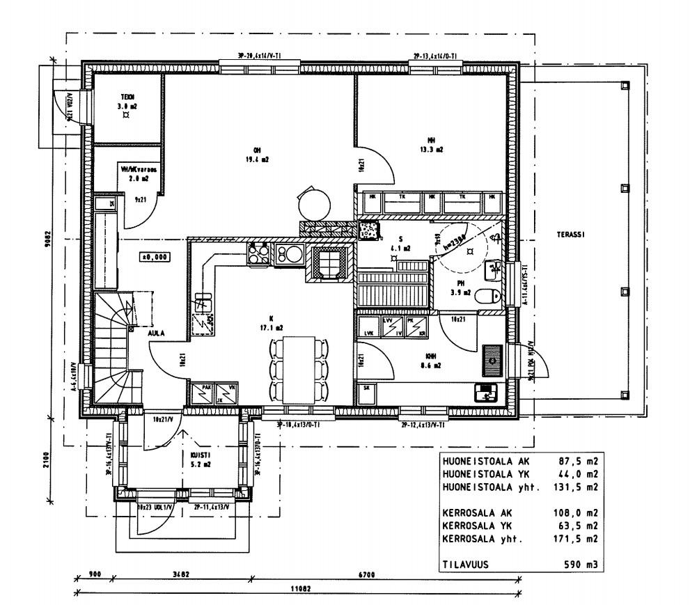 Talo pellon laitaan Talopaketin valinta ja piirustukset
