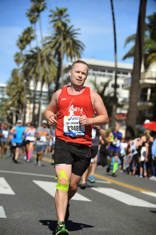 Racing for LA Marathon Finish Line Santa Monica