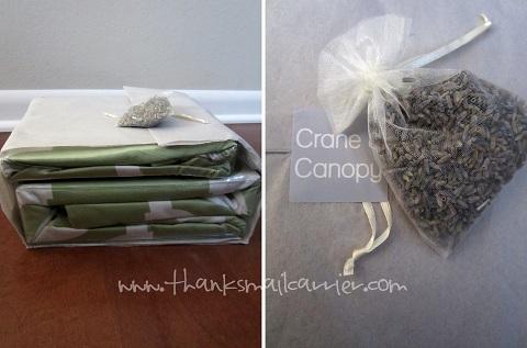lavender sachet packaging
