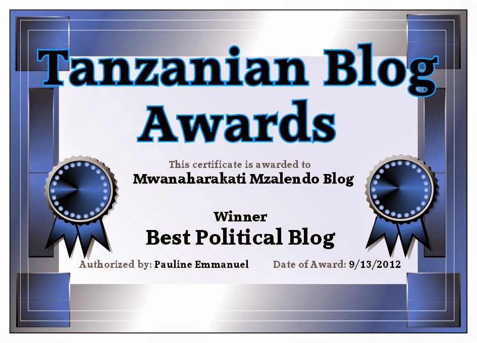 TANZANIA BLOG AWARDS 2012