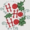 ho ho ho christmas cross stitch chart with holly and snow