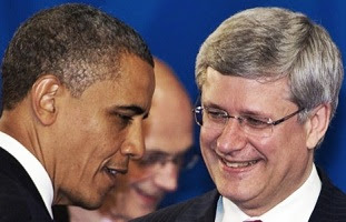 Barack Obama & Stephen Harper.