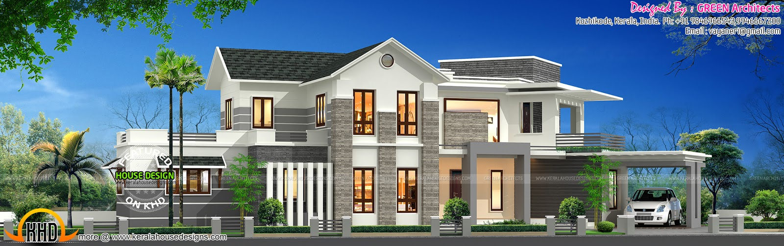 5 bhk house in 2750 sq ft kerala home design and floor plans for 5 bhk house