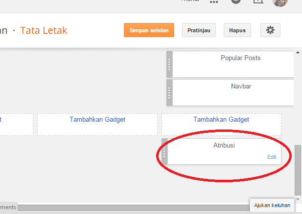 Cara Menyembunyikan Widget Atribusi Blogger