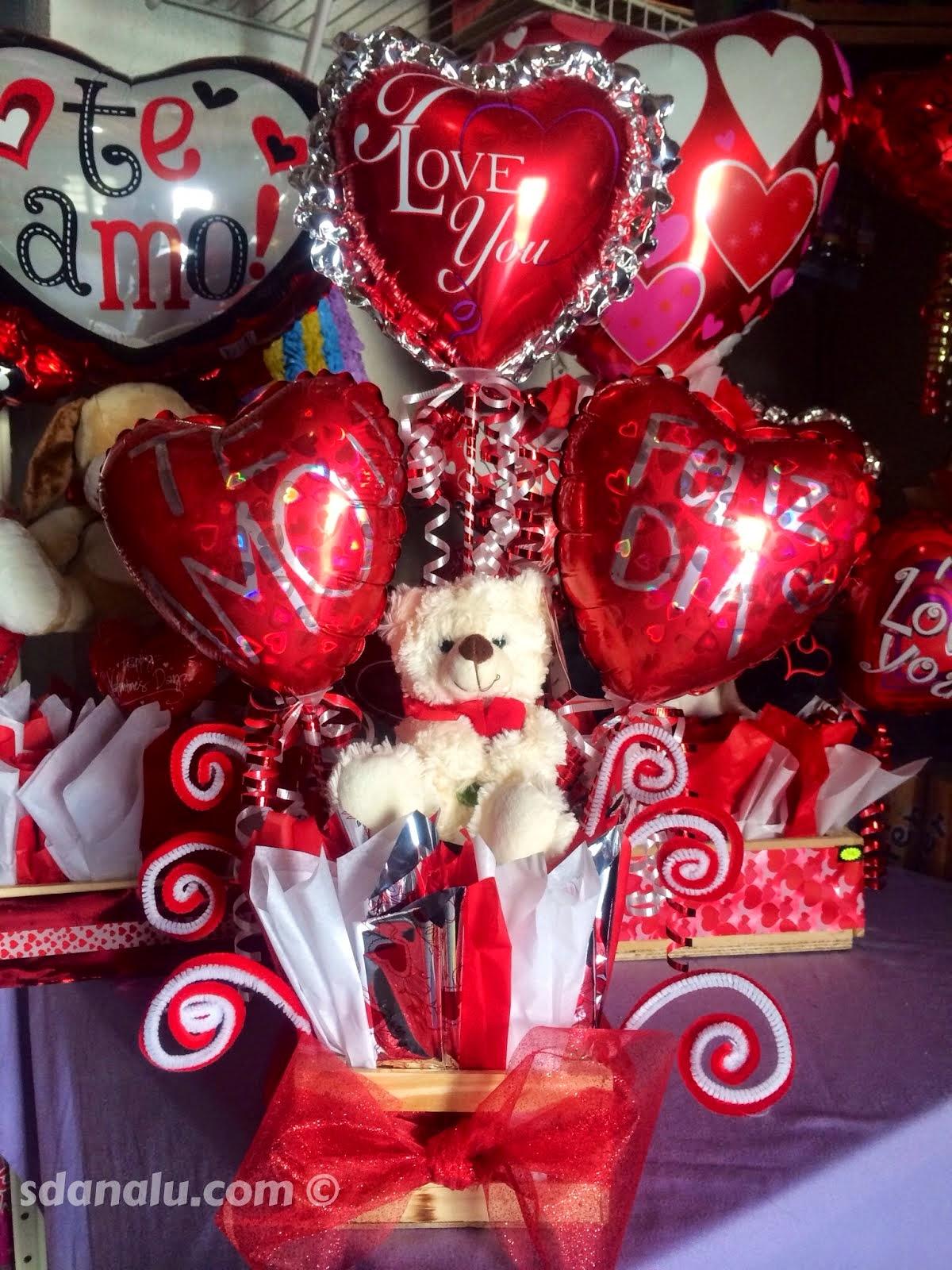 Ideas para tus Arreglos de San Valentn SDANALU Globos y FX lo