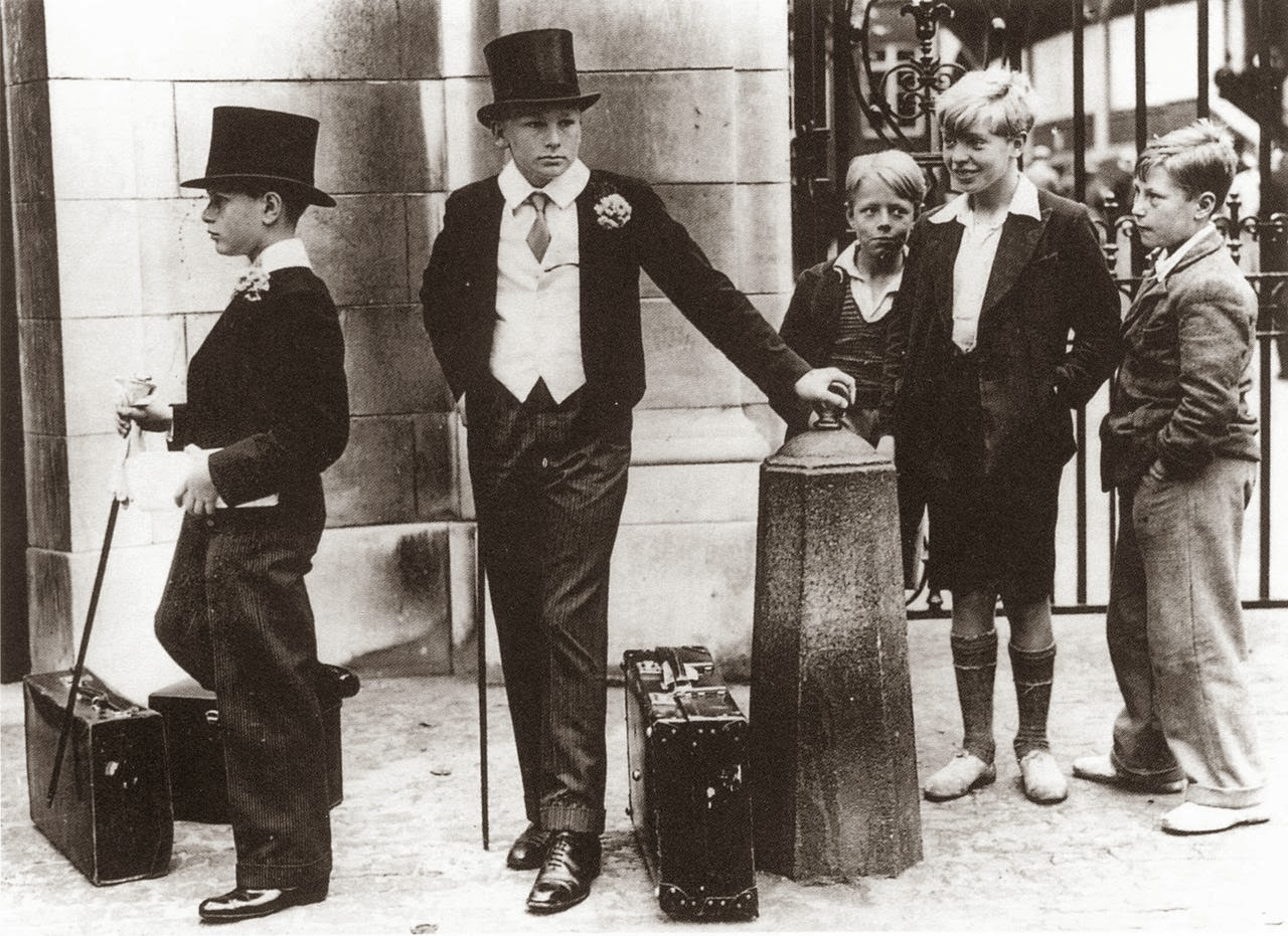 The five boys who came to illustrate the class divide of pre-war Britain, 1937