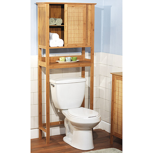 Bamboo over the toilet cabinet bamboo products photo for Over the toilet cabinet