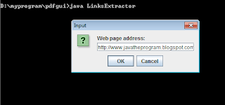 extract links from html web page