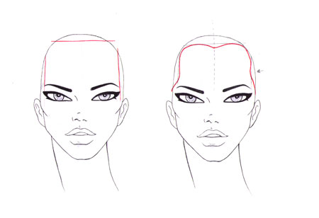 how to draw the front of your eyebrows