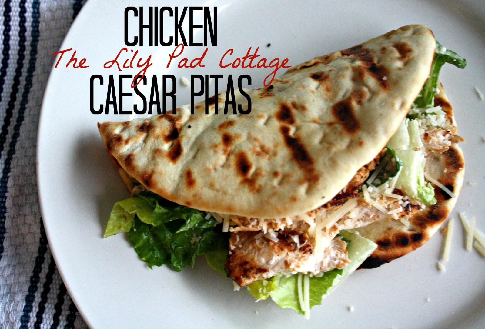 Chicken Caesar PitasThe Lilypad Cottage
