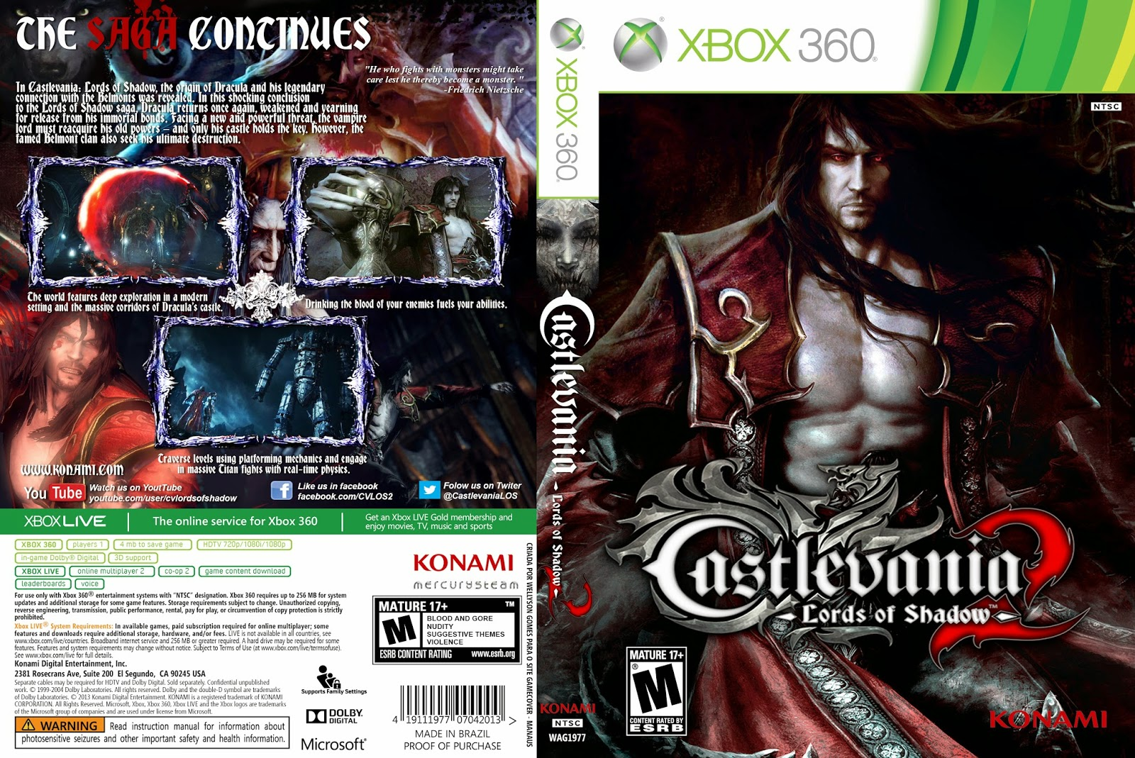 Capa Castlevania: Lords Of Shadow 2 XBOX 360