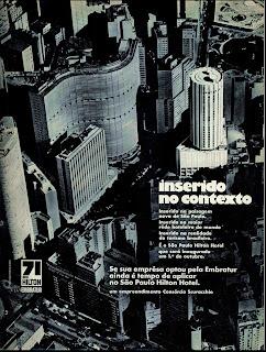 propaganda Hotel Hilton - 1971, anos 70; década de 70; 1971; Oswaldo Hernandez;