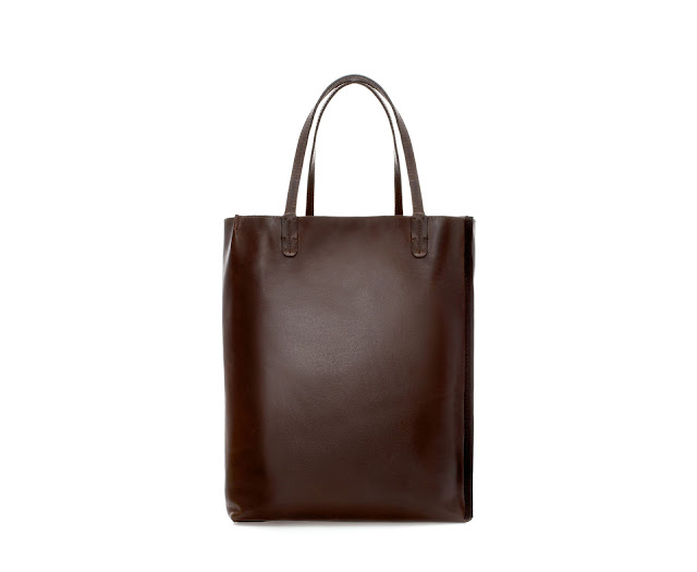 brown shopper bag
