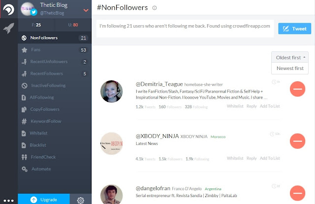 Learn how to see who has unfollowed or followed you on Twitter with the help of Crowdfire