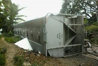 Desacarrila tren en Tezonapa Veracruz