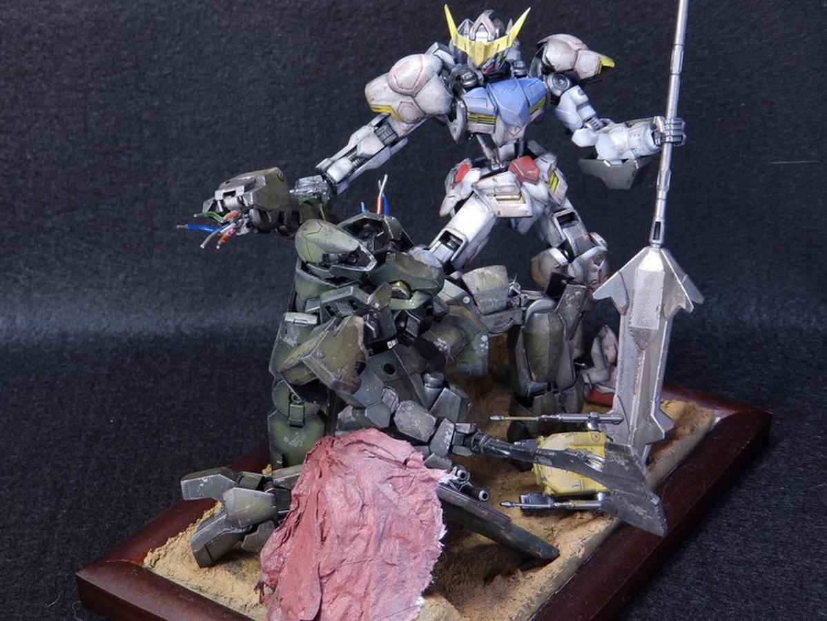 Custom Build Hg 1 144 Gundam Barbatos Vs Graze Duel