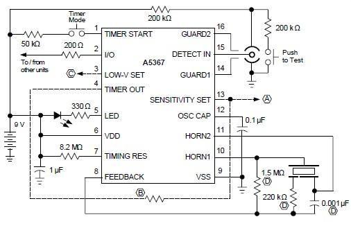 Ionization Smoke Detector Using A5367