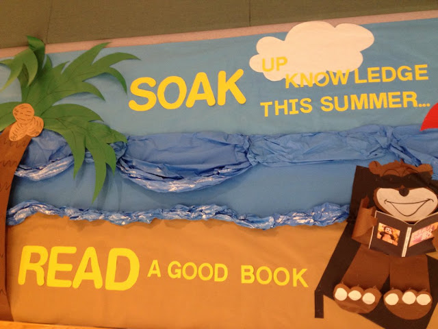 summer beach theme bulletin board