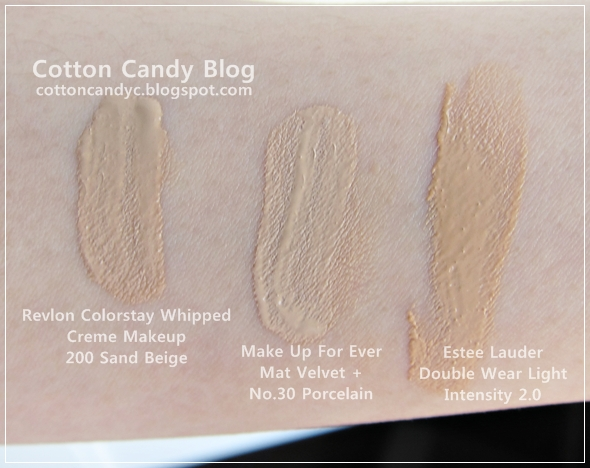 revlon colorstay whipped foundation color chart: Cotton candy blog revlon colorstay whipped creme makeup swatches