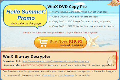 WinX Blu-Ray Decrypter License Code
