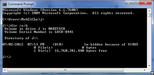 how to delete hidden files on windows 7 using cmd