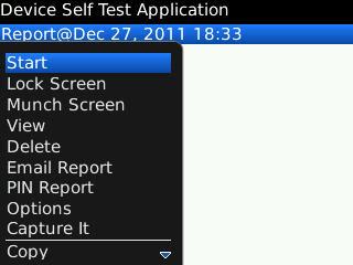 start test configuration