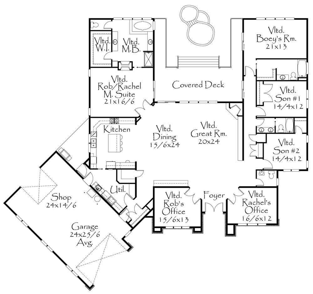 Planos y fachadas de casa habitaci n de un nivel con 4 for Planos para viviendas