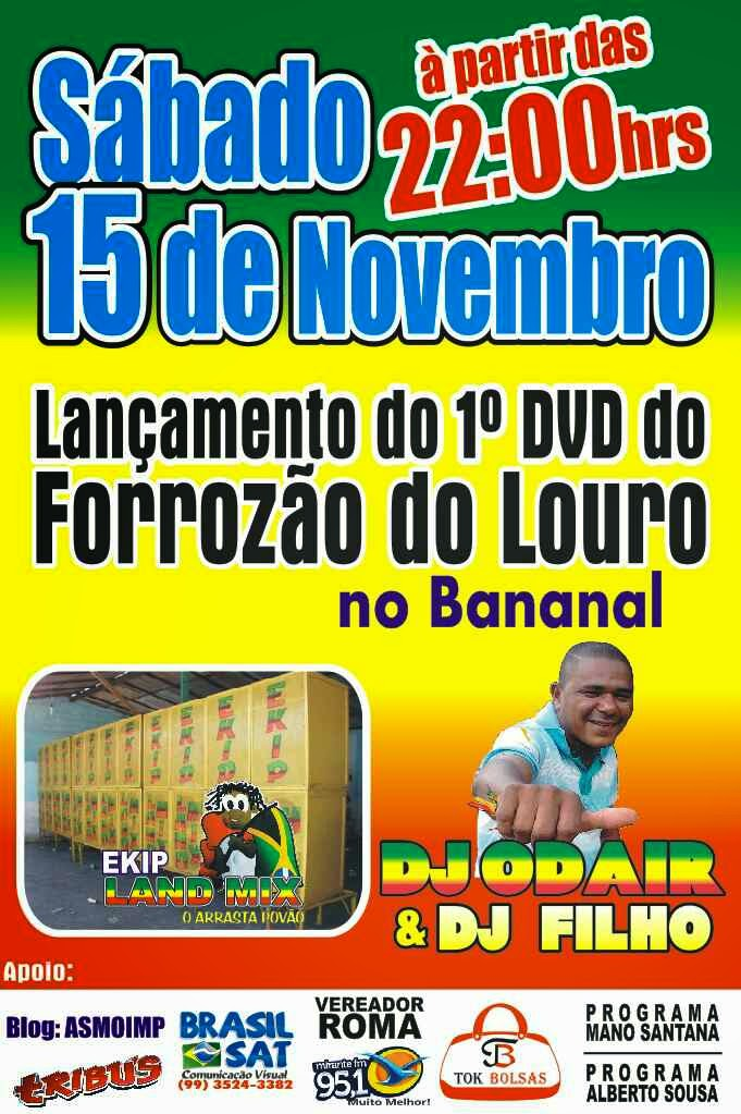 1° DVD DO FORROZÃO DO LOURO