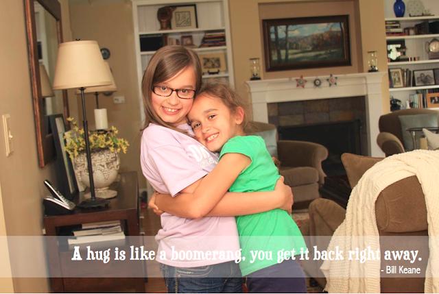 #sisters #hug #quote | iloveitallwithmonikawright.com