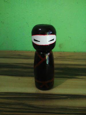 boneka kayu jepang ninja style