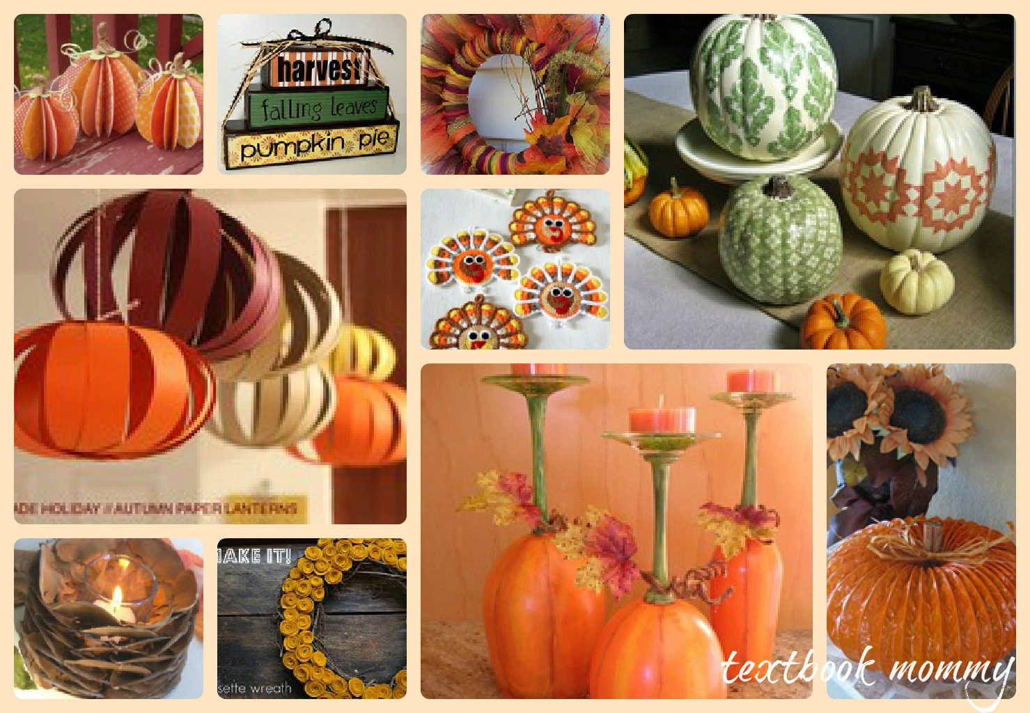 Textbook mommy 10 fantastic thanksgiving home decor crafts for Thanksgiving home ideas