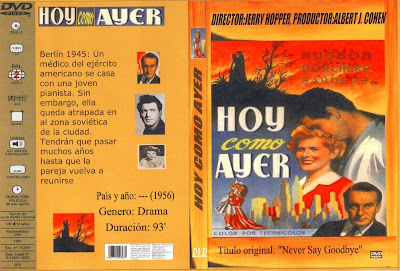 Hoy como ayer | 1956 | Never Say Goodbye: Caratula, Dvd, Cover