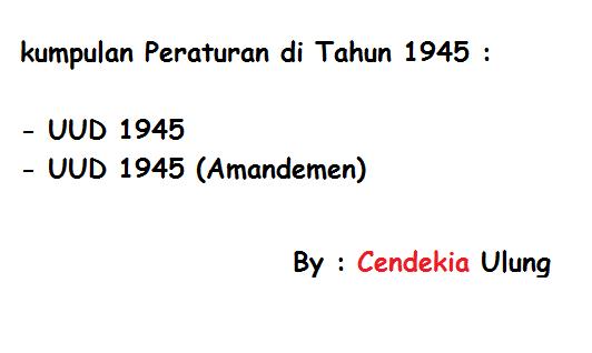 UUD 1945, Amanden 1-4, katalog undang-undang, naskah pembukaan, download