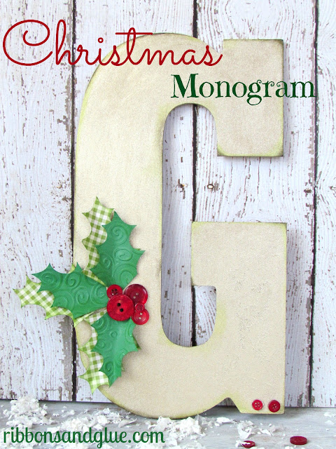 how to make a Christmas monogram
