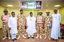His Excellency, Rt. Hon. Ahmadu Umaru Fintiri, Chief of Staff, SSG with Service Commanders.