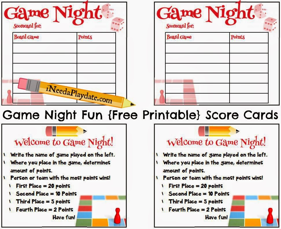 Game Night Fun plus Printable Scorecards! #HasbroGamingParty