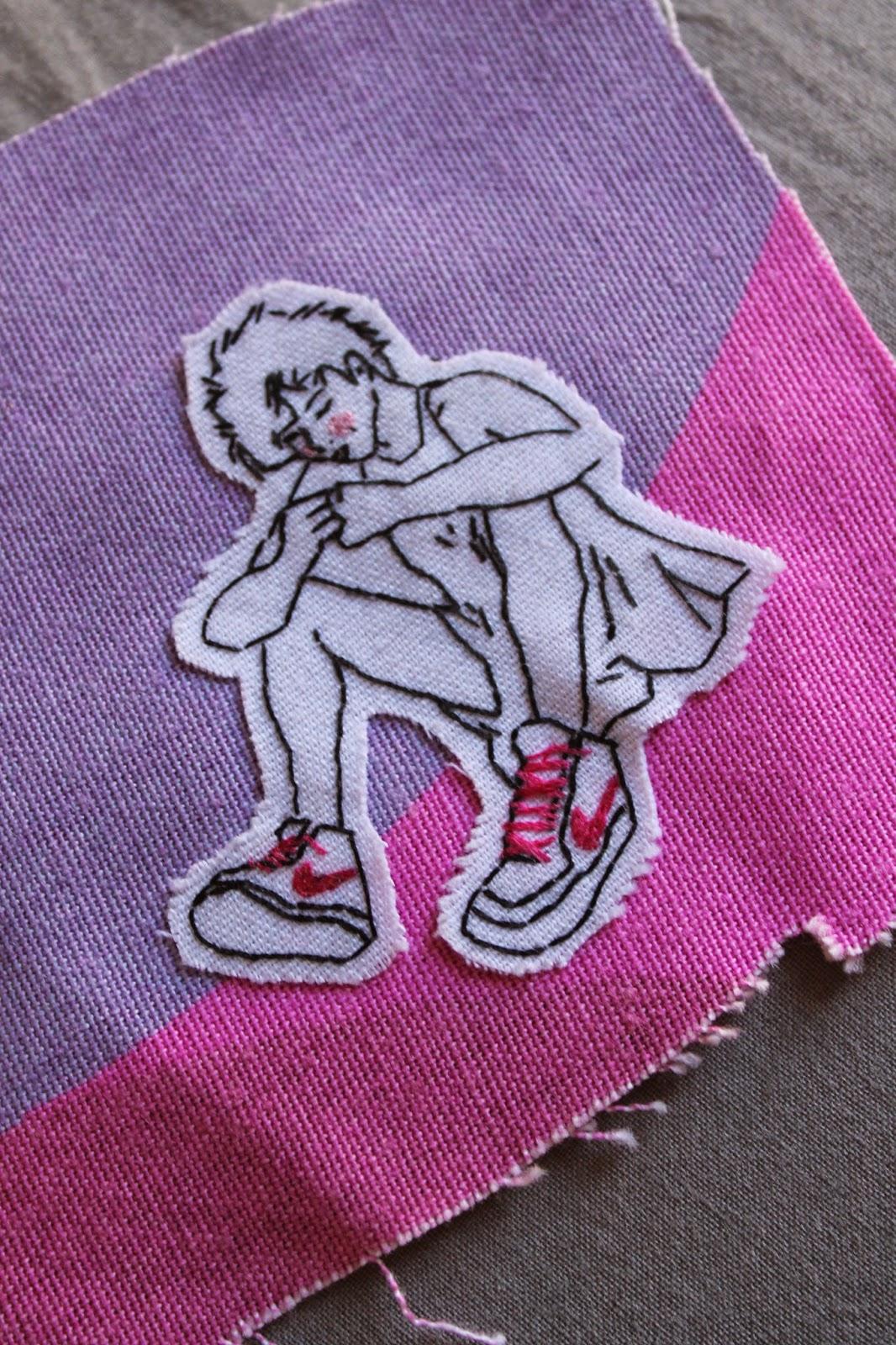 ilustración bordada chica