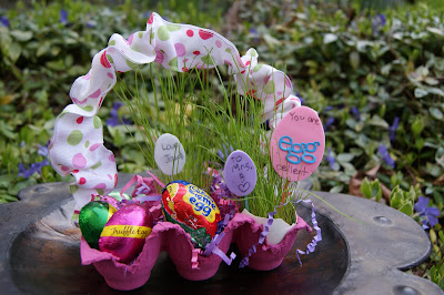 Egg Carton Easter Baskets
